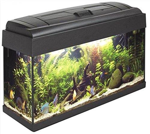 ACQUARIO MONDOAQUA 100 (100X40) - Acquario in vetro completo di coperchio plastico, sistema di illuminazione con portalampade a tenuta stagna, filtro biologico, pompa di ricircolo e termoriscaldatore.