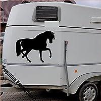 trabendes Pferd Modell 2 Aufkleber Anhänger Pferd Anhänger ca. 60cm