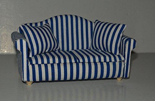 Preisvergleich Produktbild Sofa mit 2 Kissen DE1165 , Puppenstubenzubehör , 1:12