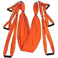 Shuzhen,Descompresión Swing Sling Inversión Antigravedad Yoga Aérea(Color:Naranja)