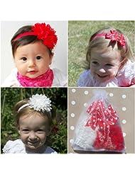 10er Set Baby Mädchen Stirnbänder Kopfband Taufe Haarband Schleife Haarschmuck