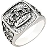 925 silver men's ring decorated with a crown image