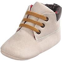 Amlaiworld Per 0~18Mesi Bambino Altezza taglio morbido cuoio da suola scarpe (Beige, 13)