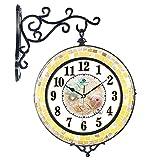 Kreativer Hausanhänger, Schlafzimmer Wanduhr, dekorative Wanduhr, ruhige Wanduhr, Das Mittelmeer schalen Metall duplex