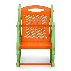 Nilkamal Dolphin Rocker Kids Chair (Green and Orange)