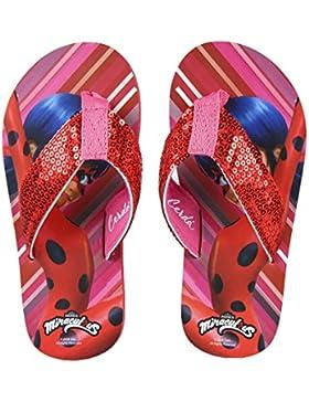 Ladybug Chancla Poliéster, Sandalia Flip Flop con Lentejuelas