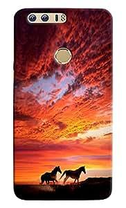 Meraki Silicone Soft Printed Back Cover For Huawei Honor 8