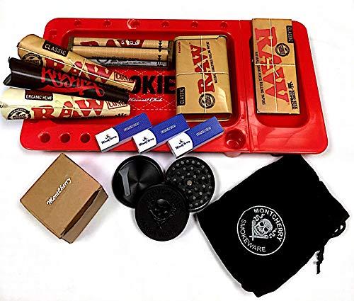 Ernte Club rot Cookies Tablett, Raw Zinn, Raw Rolling Maschine, Raw Supreme, Wiz Khalifa Zapfen Deal mit 3D Lesezeichen von Trendz