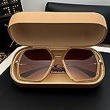 KLXEB Sonnenbrillen, UV-Strahlen, Langes Gesicht und Dünnen Sonnenbrille Für Sonnenschutz Im Sommer, Champagner Farbe
