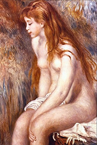 Das Museum Outlet-Young Girl Bathing by Renoir, gespannte Leinwand Galerie verpackt. 96,5x 121,9cm