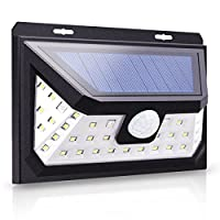 Techgomade Solar Lights, PIR Motion Sensor Wall Lights, 4 Modes in 1 Lamp, 39 LED, Waterproof Lights for The Outdoors, Security Night Lighting for Hallways, Garden, Fence, Balcony, Yard or Stairs