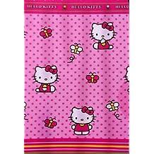 Hello Kitty jardín tela cortina de ducha