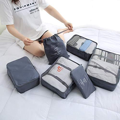valigetta da viaggio con set di scarpe, borsa per abiti, borsa da viaggio, grigia