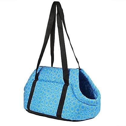 Pet Travel Carrier Tote Bag - SODIAL(R) Foldable and washable Small Dog Cat Pet Travel Carrier Tote Bag Purse Bag Soft… 2