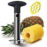 VieVogue Ananas-Ausstecher aus Edelstahl mit Schneider und Schäler für Obst – Schneidet Ananas schnell und einfach ohne Messer, plastik, Schwarz