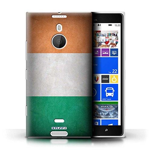 Coque en plastique pour Nokia Lumia 1520 Collection Drapeau - Finlande/finlandais Irlande/irlandais