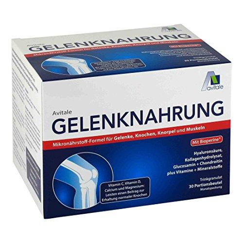 Avitale Gelenknahrung mit Hyaluronsäure, Kollagen, Glucosamin und Chondroitin sowie der Mikronährstoff-Formel für Gelenke, Knochen, Knorpel und Muskeln, 450 g (Glucosamin Kollagen Chondroitin)