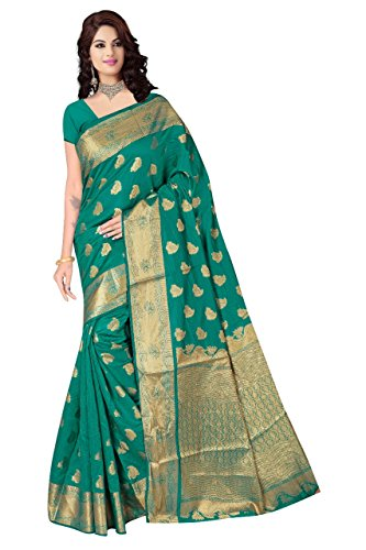 Boutique On Palm Bollywood Style New Generation Concept Party Wear Saree Banarasi Silk Sarees (Rama Jacquard Soft Bird Pannel Angel Pallu)