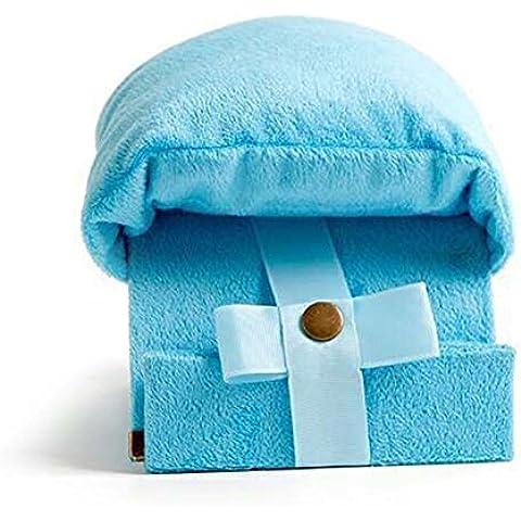 Remeehi escuela y oficina brazo guardia Pan cuadro almohada para niños, estudiantes y personal de la oficina, algodón, azul, 18.5 x 10cm