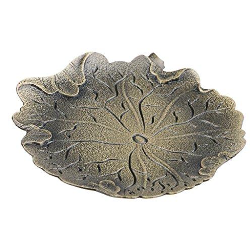 Homyl Dessous de Verre Compatible Modèle Feuille de Lotus en Alliage Outil Rétro pour Protection de Table - Bronze