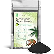 Activated Charcoal Powder by Sagano - Premium Raw Coconut Carbon Bulk - More Effective than Hardwood Activated Charcoal - Natural Teeth Whitening, Helps Digestion, Detoxifier - 454gram