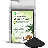 Polvos de Carbón Activo de Sagano - Carbón Natural de Coco Calidad Premium - Más Efectivo que el Carbón Vegetal - Blanqueador Dental Natural, Digestivo, Desintoxicante