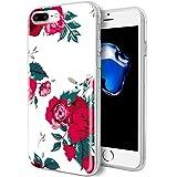 iPhone 7Plus Fall/iPhone 8Plus Fall, KGD [Blumen Serie] [Flexible Soft TPU] Gummi Schutzhülle aus Silikon mit [IMD Glossy Muster] für iPhone 7Plus/iPhone 8Plus