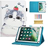 dteck Universal Schutzhülle für Samsung Galaxy Tablet, Apple iPad Mini, iPad 9,7, Amazon Kindle, Google Nexus und Mehr 16,5–26,7cm Tablet 01 Tomato Cat for 9.5-10.5 inch Tablet