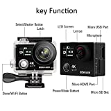 4K Action Camera, Bomaker K8 Underwater 30M Action Camera Ultra HD Anti-Shake Sport Action Cam 2.0 Inch LCD Screen 170 Ultra-wide Angle 1050 mAh Batteries with Waterproof Case and Ton of Accessories