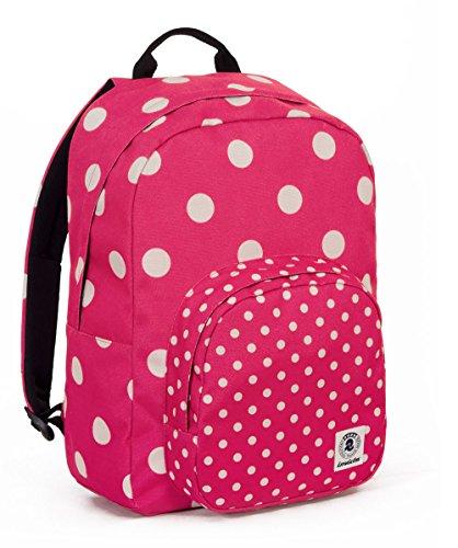 ZAINO INVICTA - OLLIE PACK FANTASY - Rosa - Bianco - tasca porta pc padded - americano 25 LT