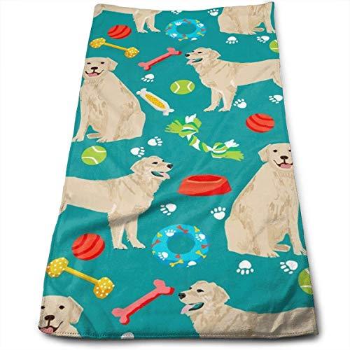 Pillowcase shop Fun Golden Retrievers Ball Paw Borns Cotton Bath Towels for Hotel-SPA-Pool-Gym-Bathroom - Super Soft Absorbent Ringspun Towels 11.8 X 27.5 Inch
