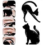 1paio di guide Cat eyeliner stencil, professionale multifunzione a forma di gatto nero Eye Liner & Eye Shadow guida template Easy Quick makeup Tool immagine
