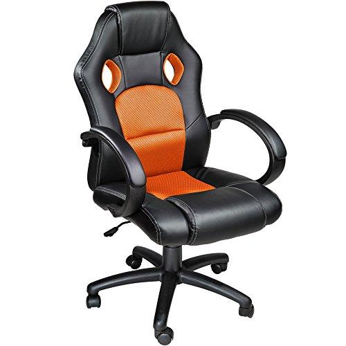 TecTake Chaise fauteuil siège de bureau hauteur réglable sportive - diverses couleurs au choix -