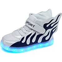 Licy Life-UK LED Lumineuse avec des Ailes Chaussures Securité Mode 7 Couleurs Clignotants USB Rechargeable Mutilsport…