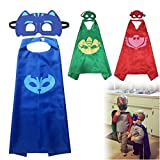 ColorMixs®Superhero Capes Masks Costume Fancy Dress Up kit- Birthday Gifts and Party Supplies for Kids