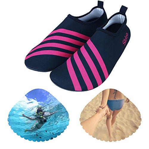 Unisex Barefoot Wasser Haut Schuhe für Strand Swim Surf Yoga Rot