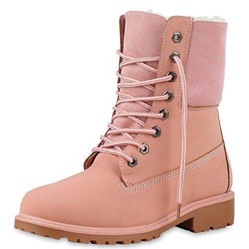 SCARPE VITA Warm Gefütterte Damen Boots Outdoor Stiefel Stiefeletten 165440 Rosa 39