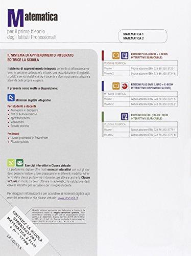 Matematica. Ediz. plus. Per gli Ist. professionali. Con DVD. Con e-book. Con espansione online: 2