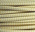 Textilkabel Stoffkabel gelb - weiß , 3-adrig rund , 3x0,75 von Globe Warehouse auf Lampenhans.de