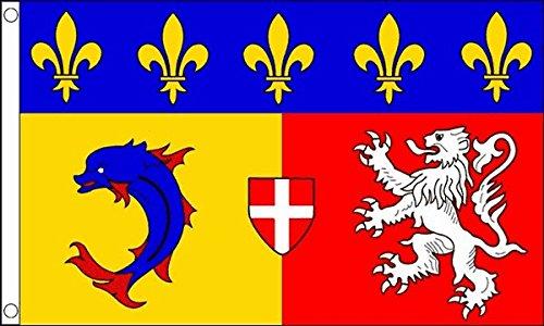 Flag Wholesaler Rhone-Alpes Flagge, Mehrfarbig, Large