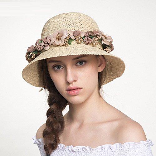 JJZHY Señoras de Otoño e Invierno Gorra plegable Sombrero para El sol  Sombrero de Playa Sombrero 10bef56bccb