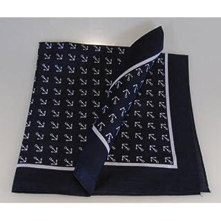 1 Stück Halstuch Anker blau 70x70 cm Spitzenqualität von Modas mit Mengenrabatt