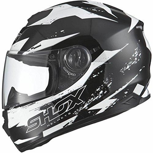 Shox Assault Trigger Motorrad Roller Helm L Schwarz/Weiß - 3