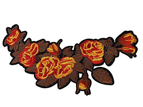 Da wa ricamo fiore patch sew on distintivo vestiti sacchetto di