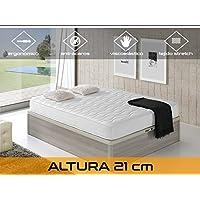 Relaxing - Confort Cloud 21 5.0  -  Colchón viscoelástico y ortopédico, Blanco, 90 x 190 x 21 cm