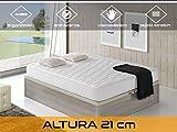 Relaxing - Confort Cloud 21 5.0  -  Colchón viscoelástico y ortopédico, Blanco, 135 x 190 x 21 cm