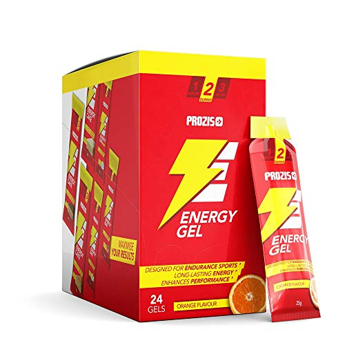 Prozis 24 x Energy Gel + Cafeína, Naranja - 25 g