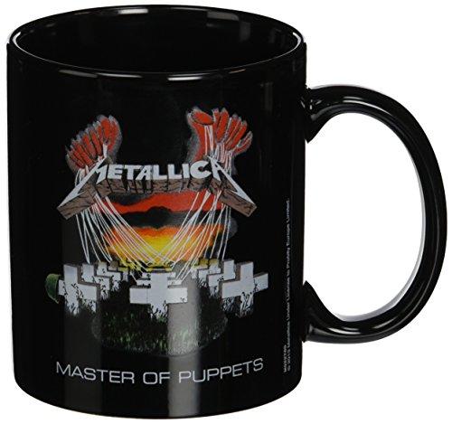Metallica - Tazza in ceramica, motivo: Master of Puppets, colore: nero