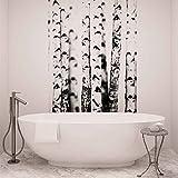 Schwarz Weiß Bäume Wald Natur - Wallsticker Warehouse - Fototapete - Tapete - Fotomural - Mural Wandbild - (2234WM) - XXL - 206cm x 275cm - VLIES (EasyInstall) - 2 Pieces