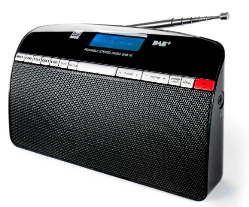 Dual DAB 14 Digitalradio (UKW/DAB+/DAB-Tuner, Senderspeicher, 2x 1,5 Watt, Stereo) schwarz